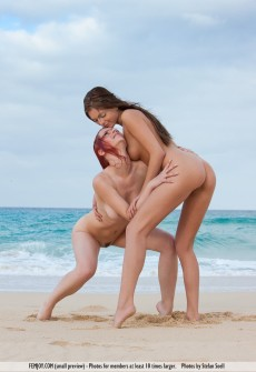 Beautiful Ladies Naked At Beach