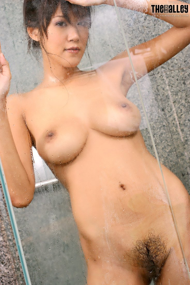 Shower naked a takeing