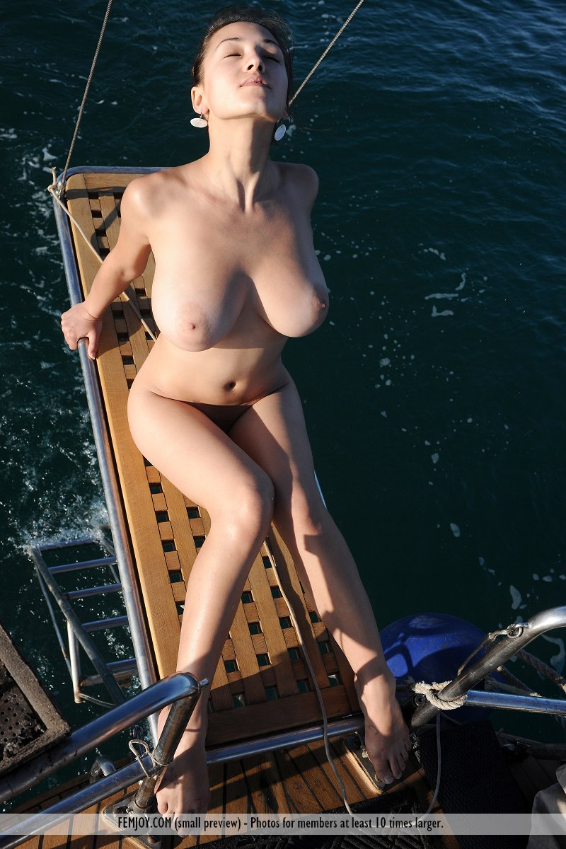 Understand this big tits on a boat not despond!