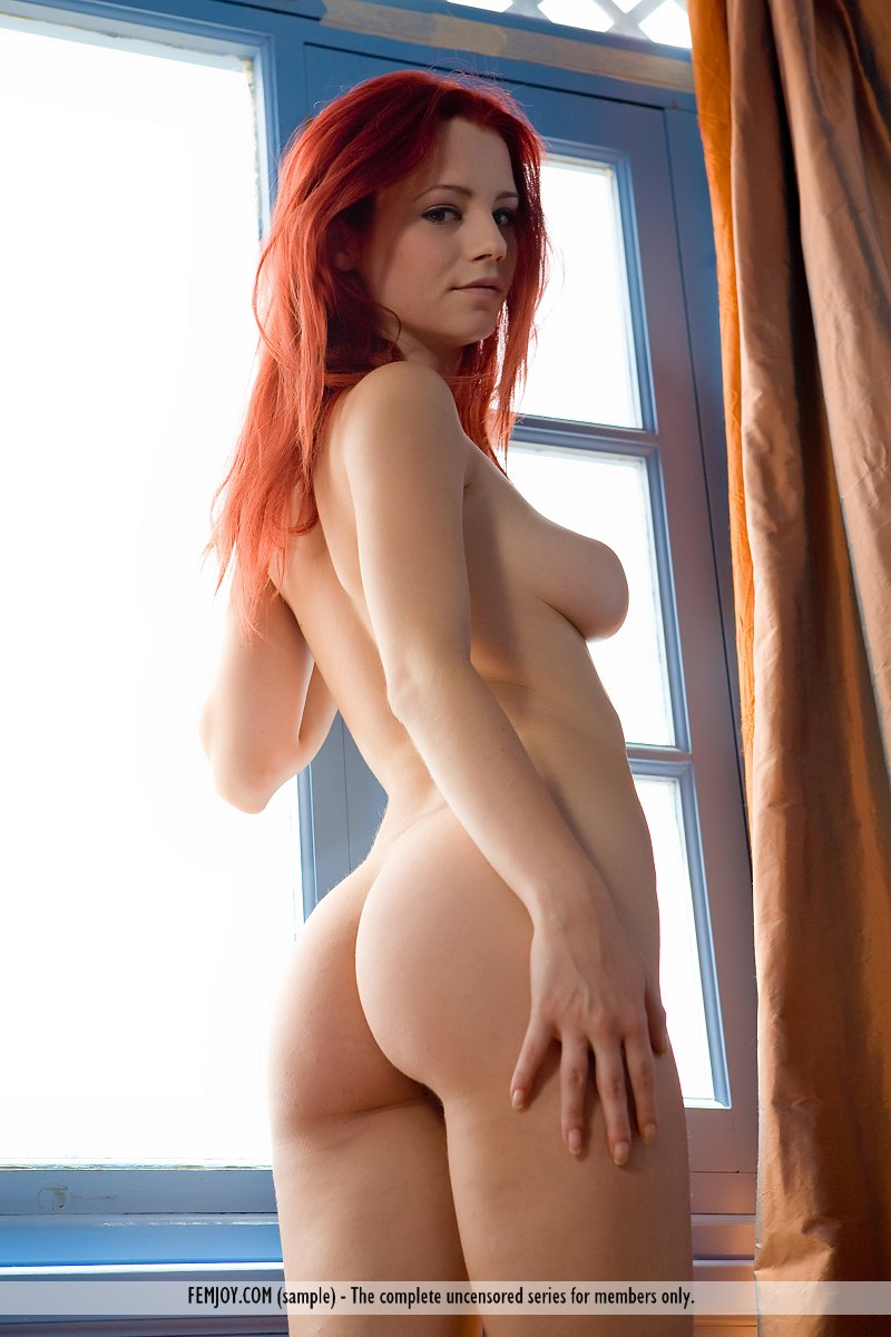 red haired girl wth small tits