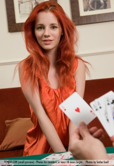 Hot Redhead Poker Player Naked