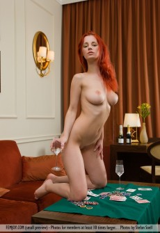 hot redhead poker player naked busty girls db