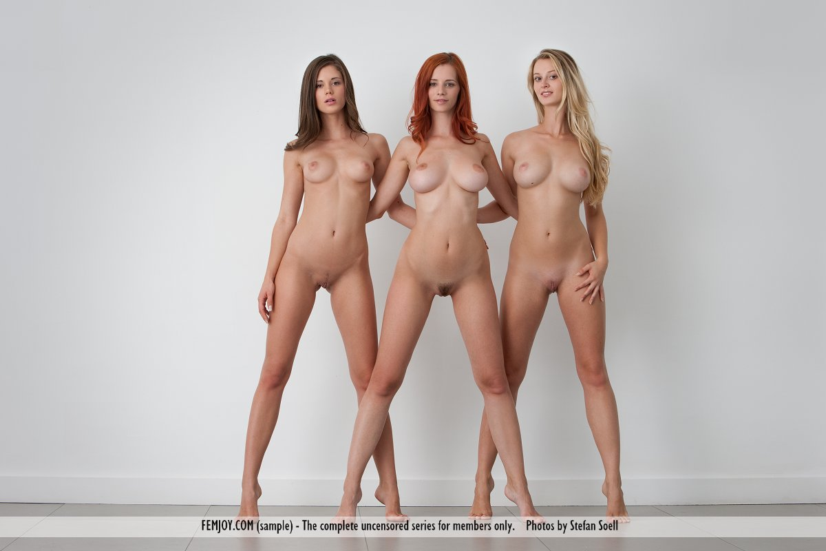 Pics three nude blondes
