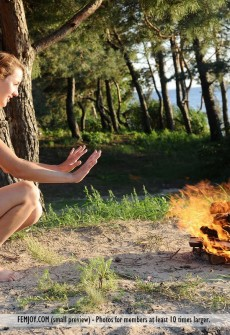 Naked Girls Around A Campfire