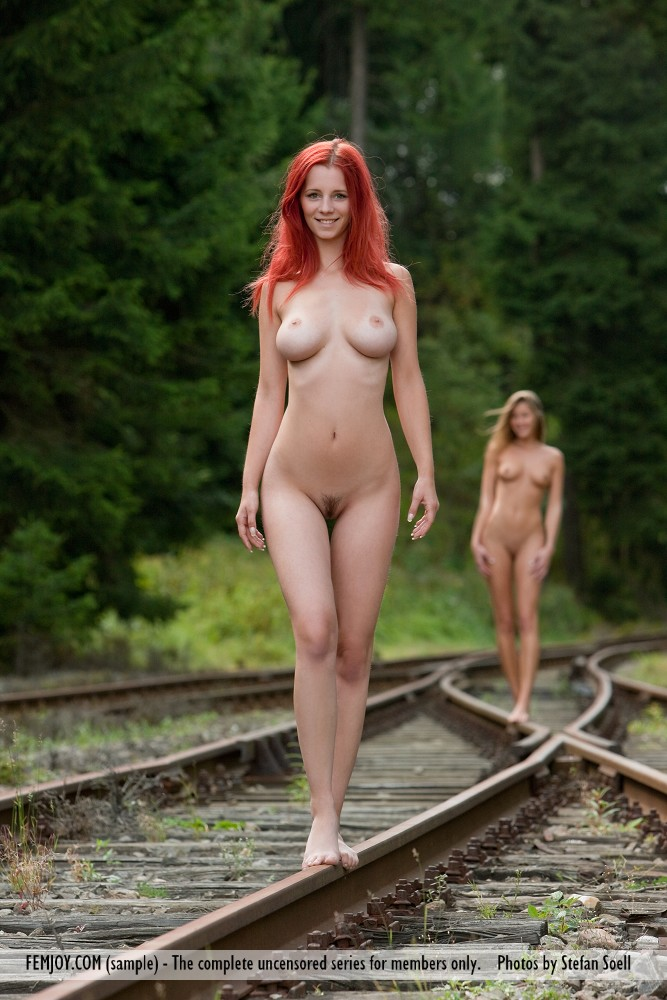 On naked trains women