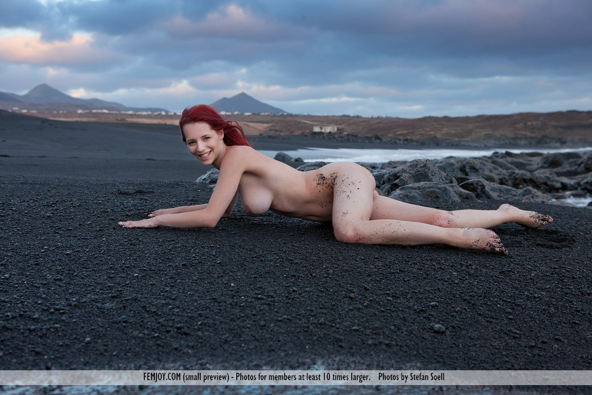 Nude Woman Standing On A Rocky Coast Line  Busty Girls Db-9551