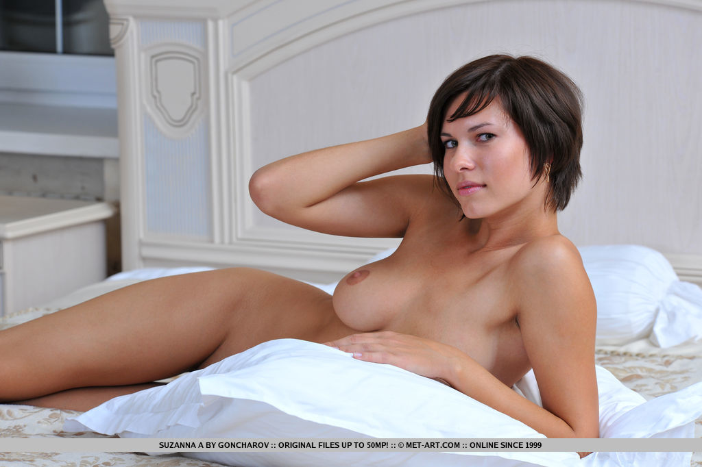 Naked short black haired women