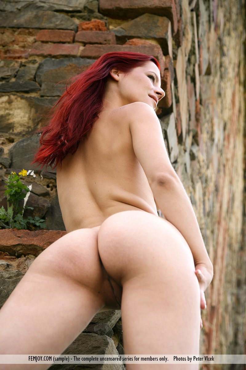 Girl red sex with hair short